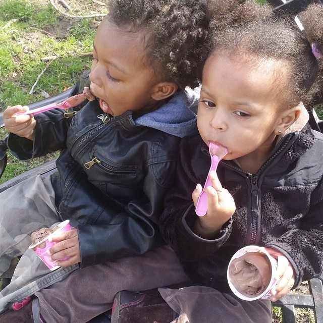 The simple pleasures of springtime... #OmowonderTwins #iscream4icecream
