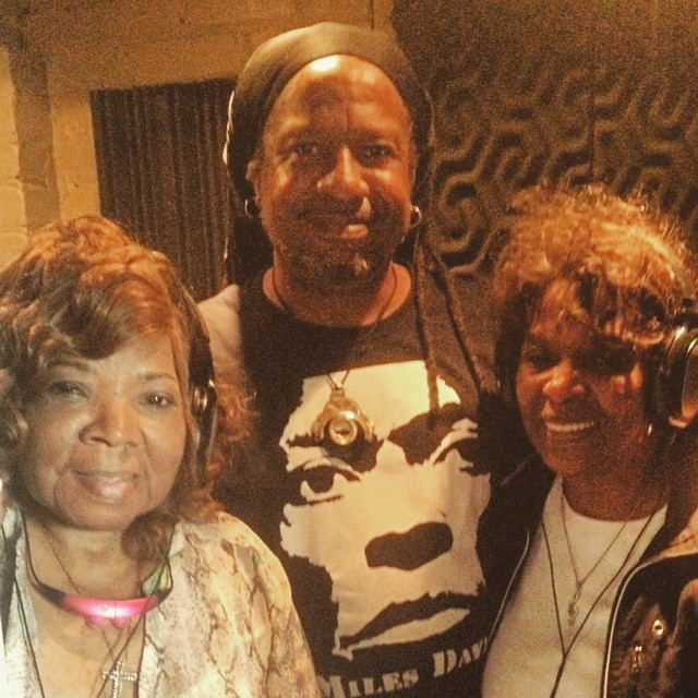 The Original Vandellas stopped by the studio this week to lend some backgrounds to a new Paul Miles track. What an honor to have Rock and Roll Hall of Famers Rosalind Ashford Holmes (left) and Annette Beard (right) in the lab. #pauljmiles #ogvandellas #rrhof