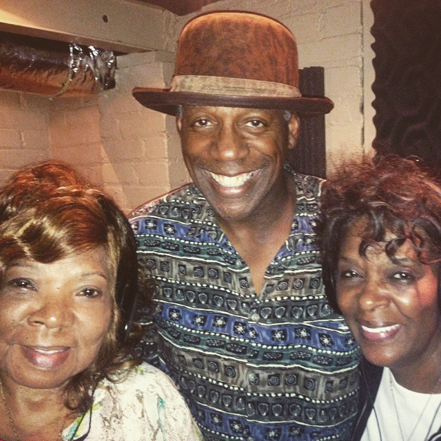Blues man Paul Miles and The Original Vandellas came by the studio to record some backgrounds for Paul's new record. #rrhof #pauljmiles