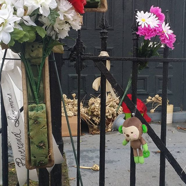 Racist Imagery at Emanuel AME Church in Charleston - July 3, 2015Our family made a pilgrimage to Mother Emanuel AME Zion Church in Charleston, SC today to pay our respects to those who lost their lives in the senseless, racist terrorist attack just two weeks ago.Among the dozens of flowers and other tributes that line the front gate, I saw this stuffed monkey. Some may say I'm overreacting, but where I come from, this is well known racist imagery. What I see is a monkey being lynched right in front of this house of worship where the whole world is mourning. Someone wanted to add insult to our injury. Someone spit on the graves of our murdered brothers and sisters here.I'm not sure how many people have noticed this, but as soon as I saw it, I understood the message. This brings me so much sadness and disappointment. In this place where so many people of all races are coming to honor the lives we lost here, some evil hearted soul used the opportunity to perpetuate the hatred. Happy Birthday, America. It is clear to me that we have a very long way to go.#motheremanuel #emanuelamezion #charleston #racistimagery #blacklivesmatter #Happy4thofjuly #terrorism #welcometoamerica