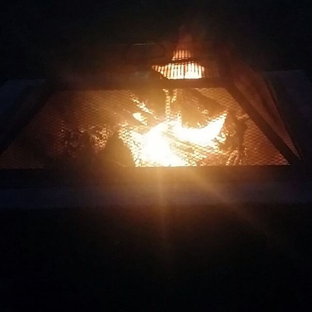 A nice quiet evening by the fire to celebrate the #summersolstice. Well... kind of quiet. Wishing you a Soulful Solstice from The Omowale Family. #familyrituals #OmoWonderTwins