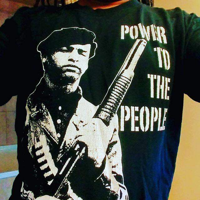 Feeling patriotic today. #AllPowerToThePeople #HueyPNewton