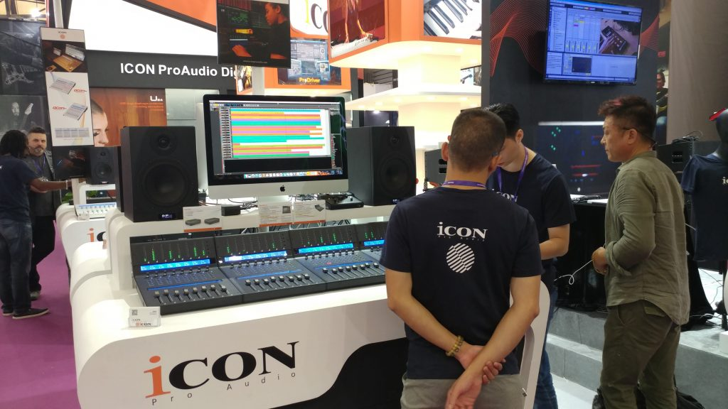 The Icon Pro Audio booth at Shanghai Pro Light and Sound