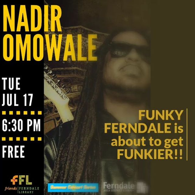 Ferndale is so funky even the LIBRARY gets into the groove!Wear your dancing shoes to work on Tuesday, and bring the bossman with you to 9 Mile at 6:30pm SHARP!Ferndale Library Summer Concert Series222 East Nine Mile Road, Ferndale, Michigan