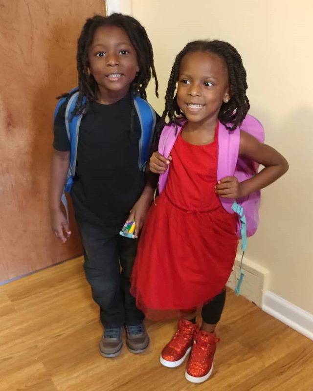 FIRST DAY OF KINDERGARTEN!!!!#TheOmowonderTwins #internationalbaccularate