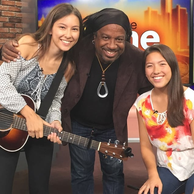 We had a great morning hanging at @fox2detroit with The Keynote Sisters, winners of the 2018 Michigan State Fair Superstar competition. Big thanks to @thenancyscho for hooking up the appearance, and @steveongtr for making it sound so purty.