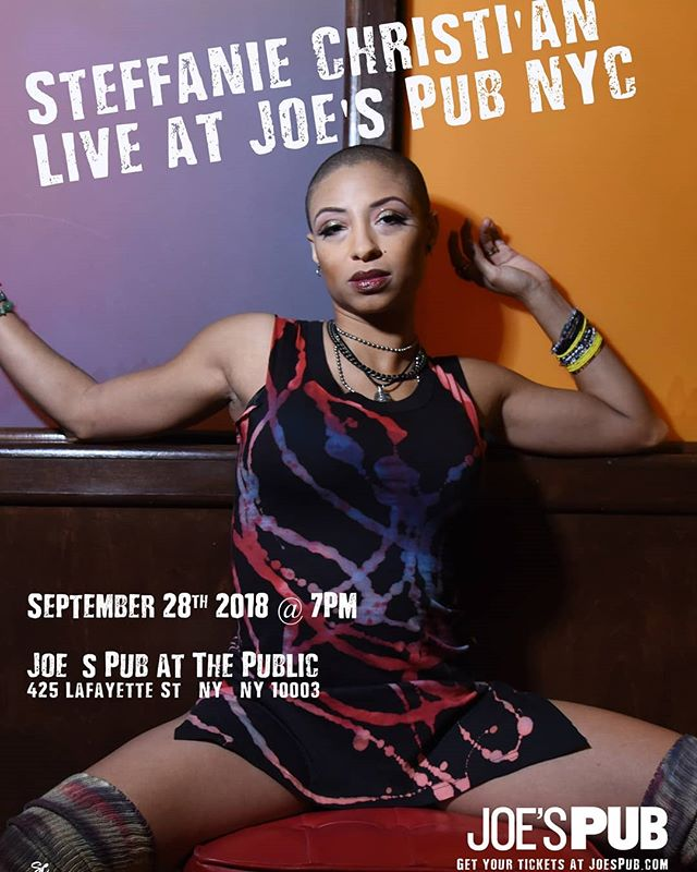 """My New York/New Jersey People!! THIS FRIDAY get a taste of some HOT DETROIT ROCK AND ROLL!! I'll be at @joespub sangin' and slangin' guitar for"""" the incredible Steffanie Christi'an (@steffchris)! Come out and rock with us!"""