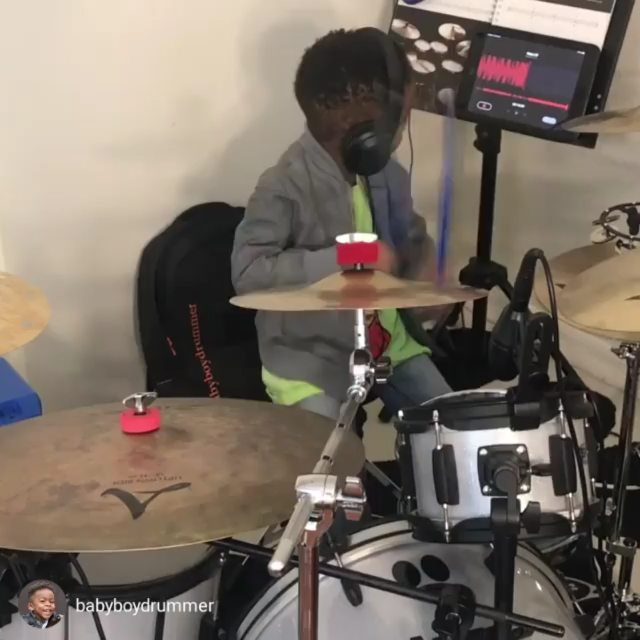 repost via @instarepost20 from @babyboydrummer Rocking out to @lennykravitz Fly Away! He's also rockin his @atldrumacademy shirt 論 Check them out they are awesome! #babyboydrummer #4yearsold #lennykravitz #flyaway The ever amazing @cindyblackmansantana on drums! @gruvgear @zildjiancompany @meeaudio @vicfirth @aquariandrumheads #gruvgear #zildjian #meeaudio1