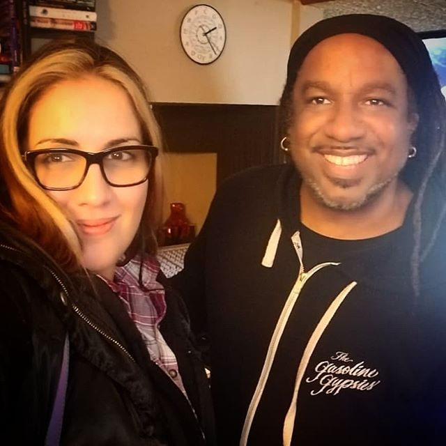 Great times in the Command Center at EkoBase Media writing some Latin Soul with the queen, Mariana Risquez. #Venezuela #Detroit