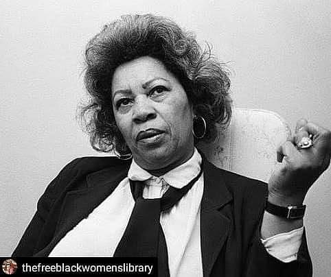 """Don't get caught fighting phantoms... Church. 🏾🏾🏾H/T @dmitradawn#Repost @thefreeblackwomenslibrary• • • • •""""Racism was always a con game that sucked all the strength of the victim. It's the red flag that is danced before the head of a bull. It's purpose is only to distract. To keep the bull's mind away from his power and his energy. Keep it focused on anything but his own business. It's hoped for consequence is to define Black people as reaction to white presence… """"It's important to know who the real enemy is and to know the very serious function of racism, which is distraction. It keeps you from doing YOUR WORK. It keeps you explaining over and over your reason for being. """"It may very well be left to artists to grapple with this fact (the distraction). For art focuses on the single grain of rice, the tree-shaped scar and the names of people shipped not only the number. And to the artist one can only say: not to be confused. You don't waste your energy fighting the fever. You must only fight the disease. And the disease is not racism. It is greed and the struggle for power. """"And I urge you to be careful for there is a deadly prison. A prison that is erected when one spends one's life fighting phantoms, concentrating on myths and explaining over and over to the conqueror your language, your lifestyle, your history, your habits. And you don't have to do it anymore. You can go ahead and talk straight to me."""" - Toni Morrison #tonimorrison #freeblackwoman #freeblackwomenslibrary"""