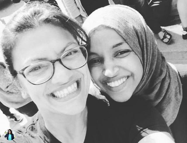 repost from @rashidatlaib I love this woman so much. I feel less alone and more courageous with her by my side. I am so tired of people policing her words (and other WOC), targeting her for political gain and demonizing our faith. @ilhanmn's strong, and her voice brings tears of hope to so many Americans of all backgrounds. She represents what is good in our country, what is possible and no attack on her (from the President himself to right wing extremists) should silence our support of her. #IStandwithIlhan
