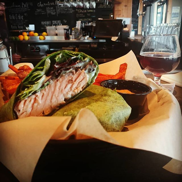 Because I deserve the very best... The Wasabi Salmon Wrap and The Gift at @blacklotusbeer #NotOnTheMenu #OnlyForThoseWhoKnow#OrderItNadirStyle