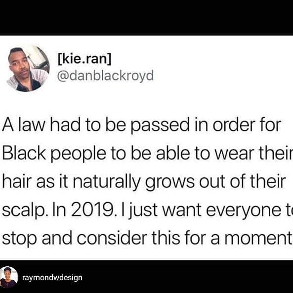 repost @raymondwdesign #publicpolicy #inequity #exist #blackness #blackhair #politicsofblackhair #professionalblackgirl #professionalwomen #equity