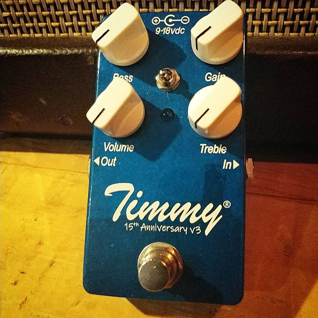 Look what I brought back from Tennessee... It's gonna be One. Hot. Summer. #15thAnniversaryHeat #TimmyPedal @PaulCAudio #paulcaudiotimmyv3 #ThisIsAPrototype #boutiquepedals